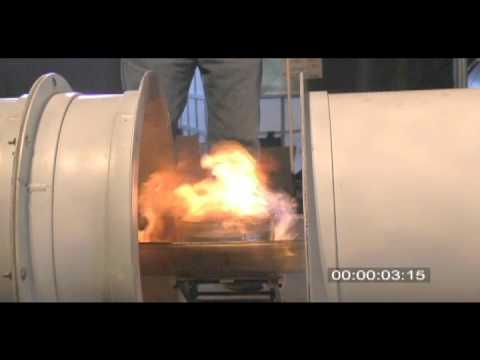 DARPA Demos Acoustic Suppression of Flame -  a flame is extinguished by an acoustic field generated by speakers on either side of the pool of fuel.
