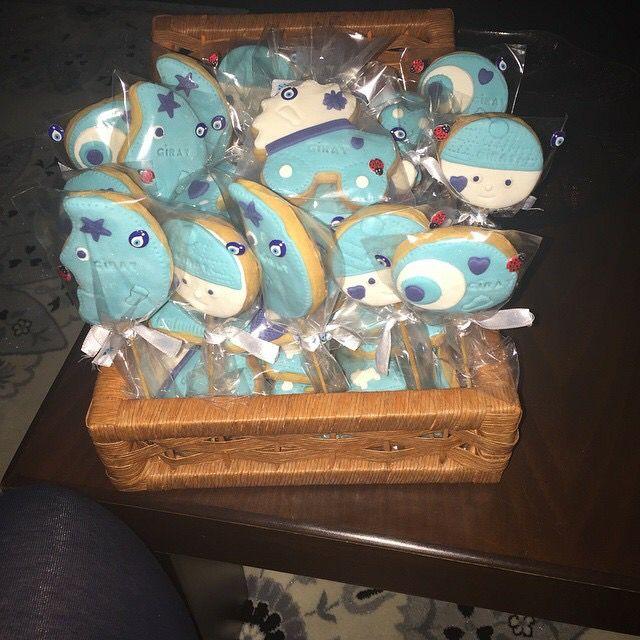 Hoşgeldin bebek kurabiyeleri, Giray'ım için  #welcomebaby #newbabycookies