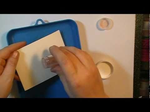 ▶ From Clear Embossing Powder to Magical Embossing Powder - YouTube