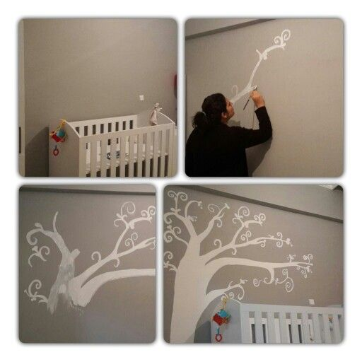 Hand made tree to the baby room