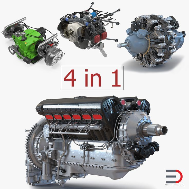 Piston Aircraft Engines Collection 3 3D model