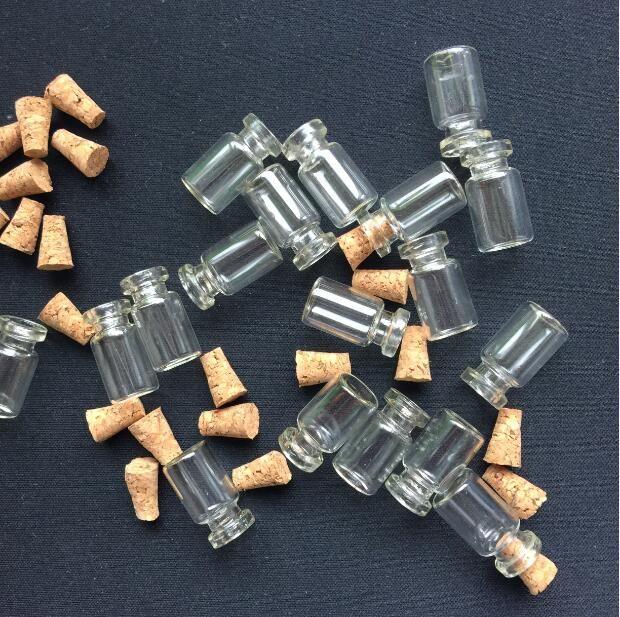 500 pcs Atacado Minúsculo Tubo de Amostra Pequena Garrafa De Vidro Transparente Frascos com Tampas De Madeira tampa de metal 18x10mm diy pingente de vidro frasco
