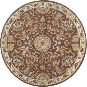 Imperial Golden Brown 8 ft. Round Area Rug-Imperial-8RD at The Home Depot