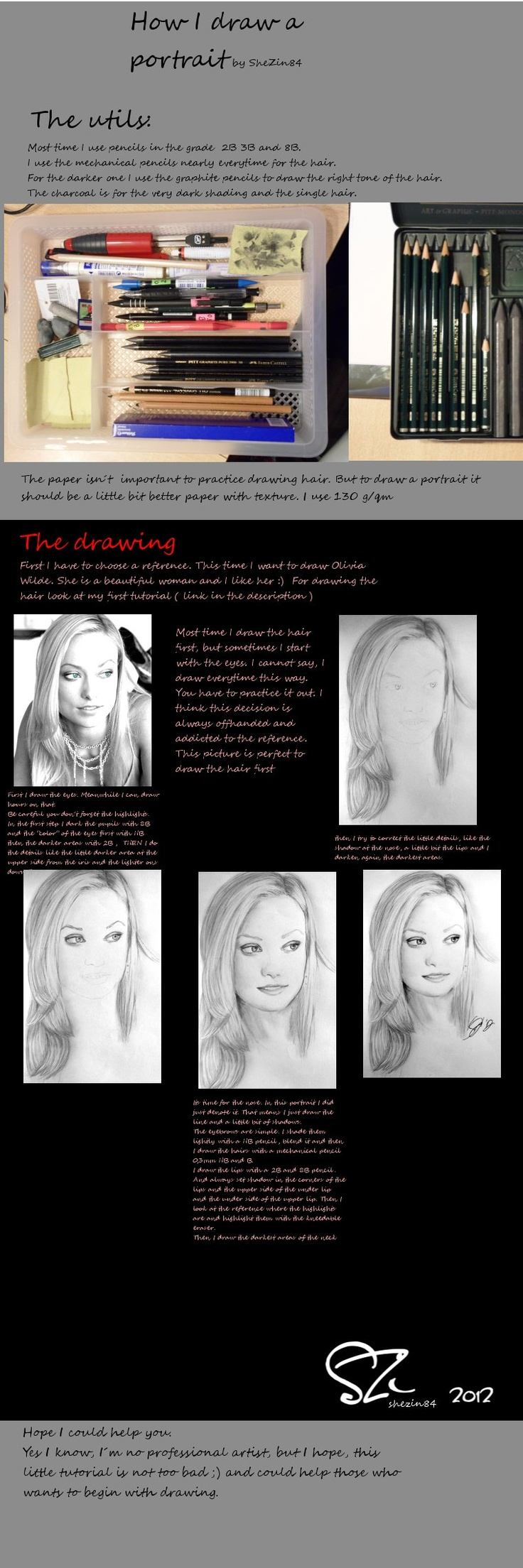 52 best portrait drawing painting tutorials how to tips images how i draw a face portrait tutorial by shezin84 on deviantart ccuart Images