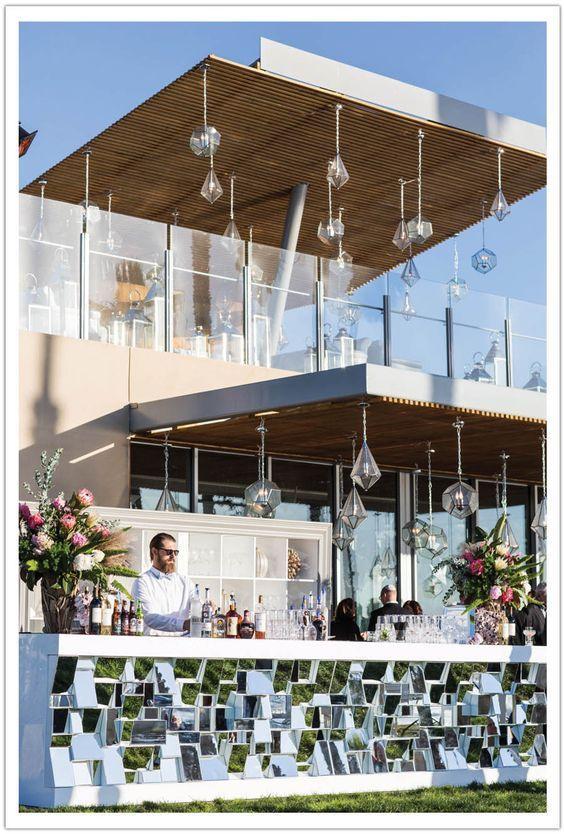 Modern Geometric Mirror Bar – shared by Alchemy Fine Events