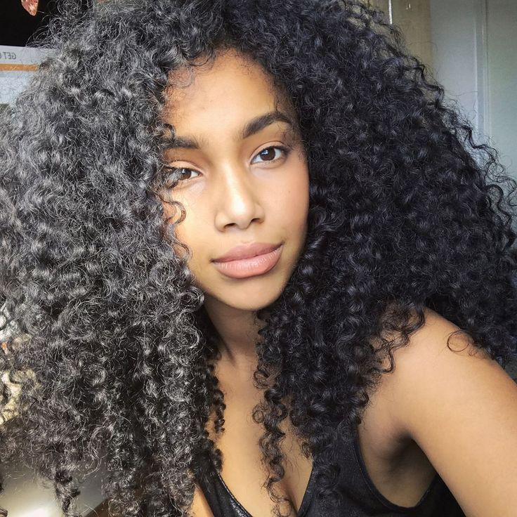 long curly wavy hair
