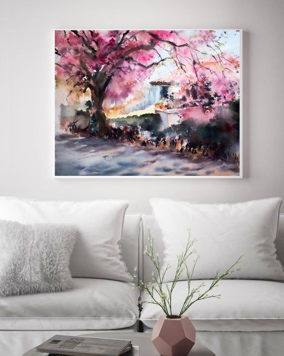 Landscape Fine Art Print Abstract Realism Watercolor Print