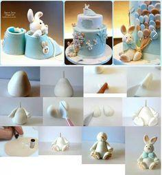 Fondant rabbit