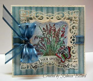 Penny Black Enjoy Life, Botanical Medallions & Banners, Vintage Label & Banner Dies, Labels 42, Imperial Square Die, Handmade Card, Anniversary Card, Loves Rubberstamps.
