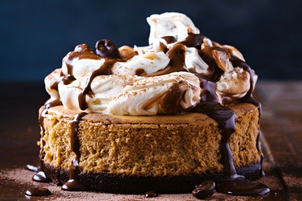 If you are looking for a seriously delectable dessert, look no further than this coffee-chocolate cheesecake - made to resemble a cappuccino.