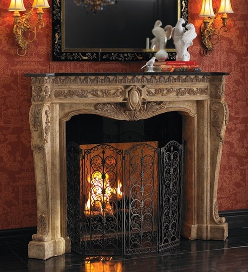 Floral Fireplace Surround