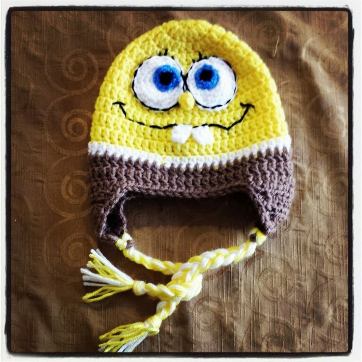 Sponge bob crochet beanie Crochet + knit Pinterest