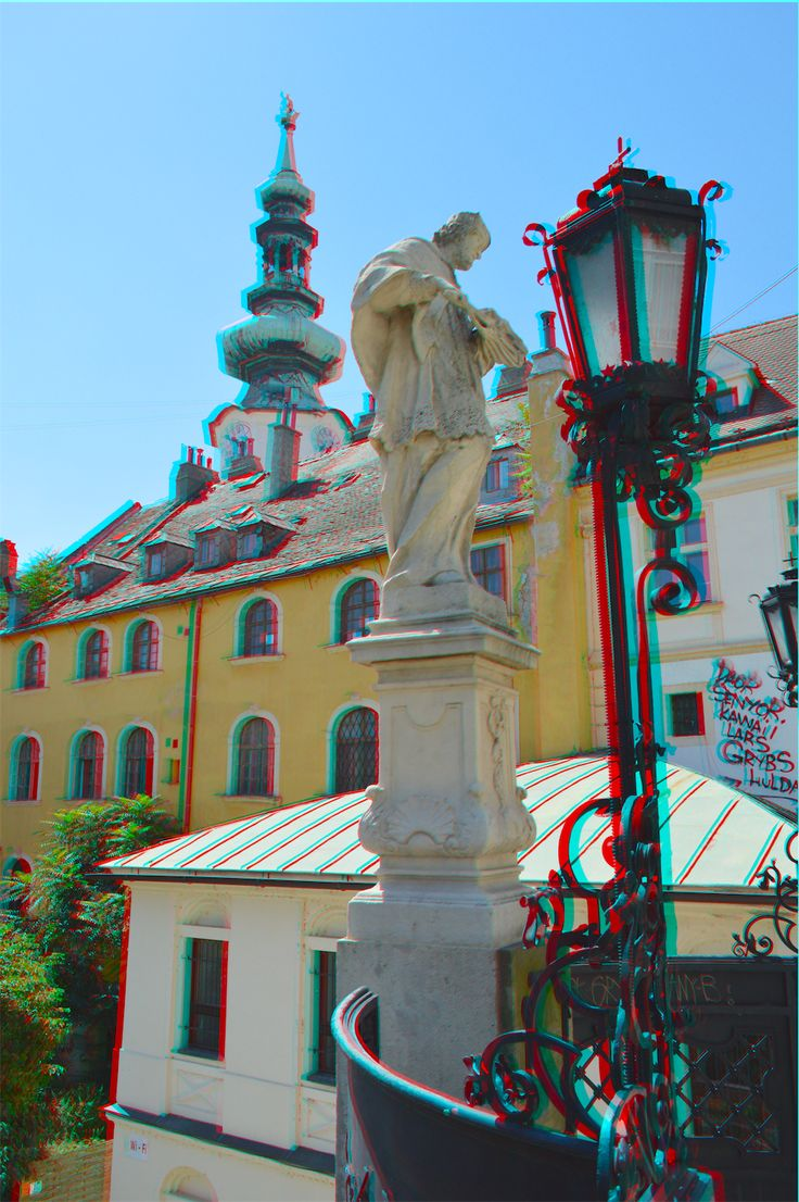 This 3d photo was taken in Old Town Bratislava, a beautiful city to visit.