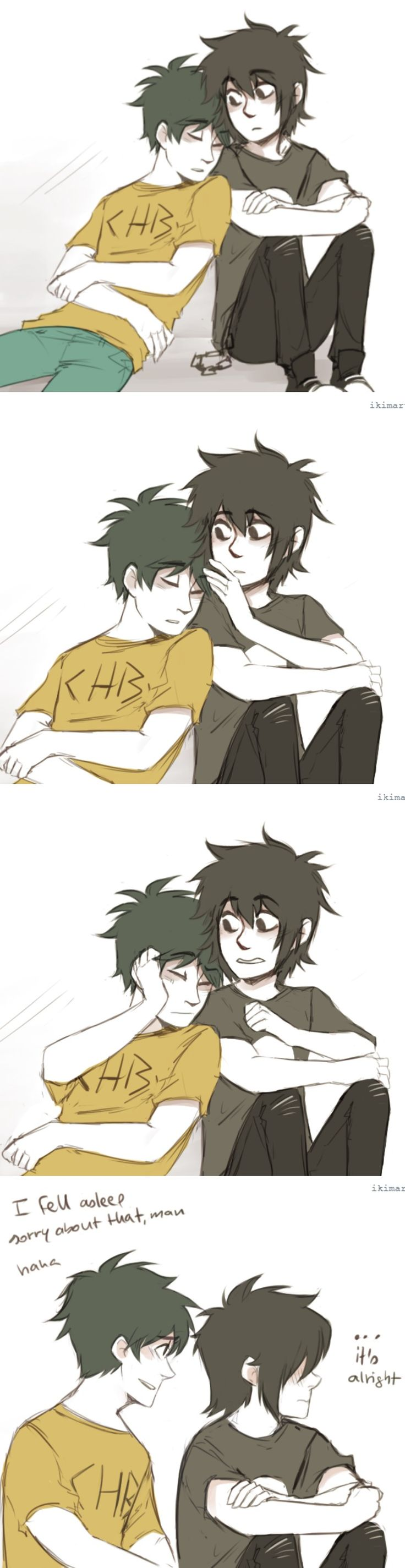 Percy Jackson and Nico di Angelo Fan Art | Peter Johnson ...