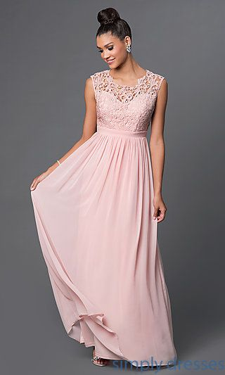 Shop cap sleeve inexpensive formal dresses at SimplyDresses. Floor length special occasion dresses with lace bodice over sweetheart neckline for prom.