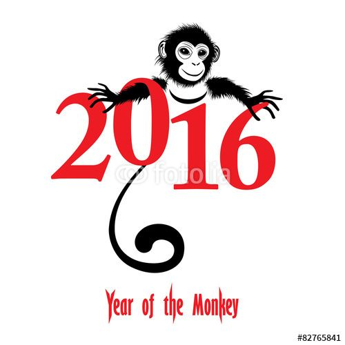 """Chinese new year 2016 (Monkey year)"""" Stock image and royalty-free ..."""