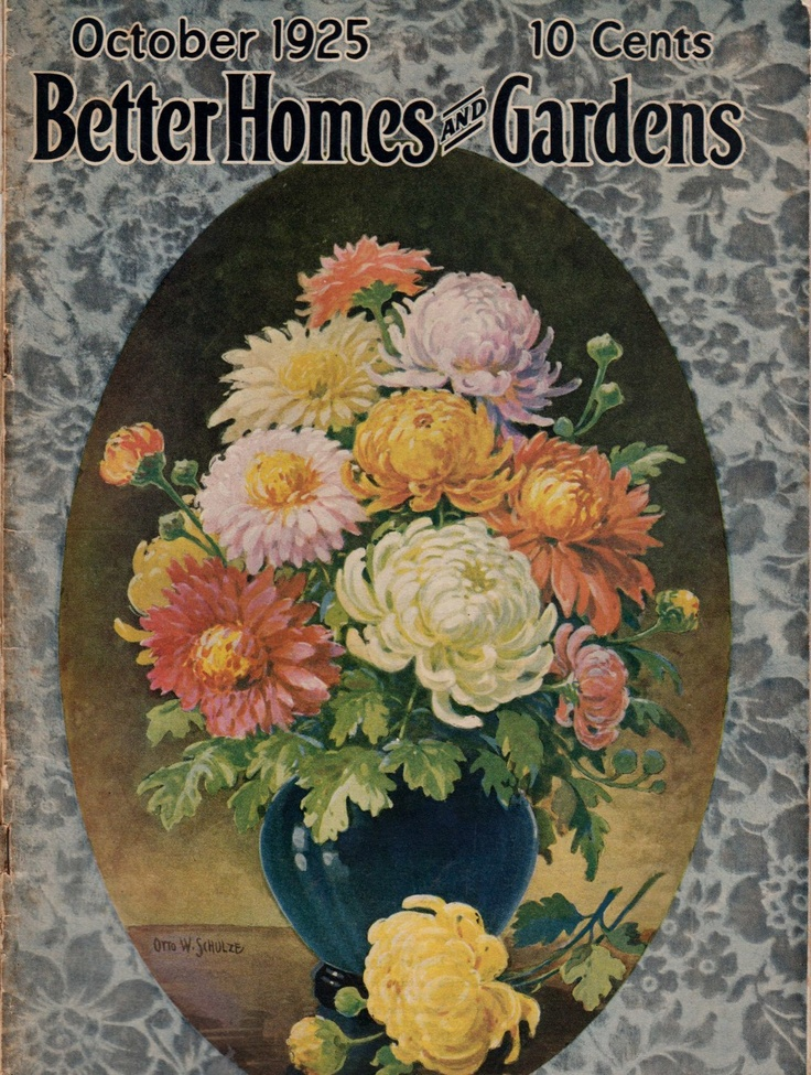 1925 Better Homes And Gardens Magazine Great Cover Advertising Illusrations