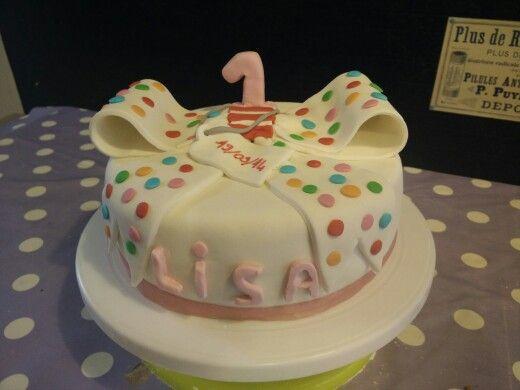 Cake anniversaire nœud 1 an