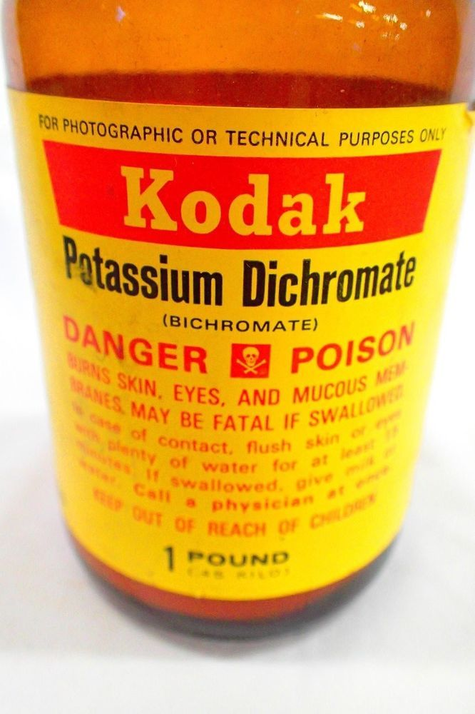 Kodak POTASSIUM DICHROMATE Photo Chemical  Vintage 1 pound -  BICHROMATE (17) #Kodak