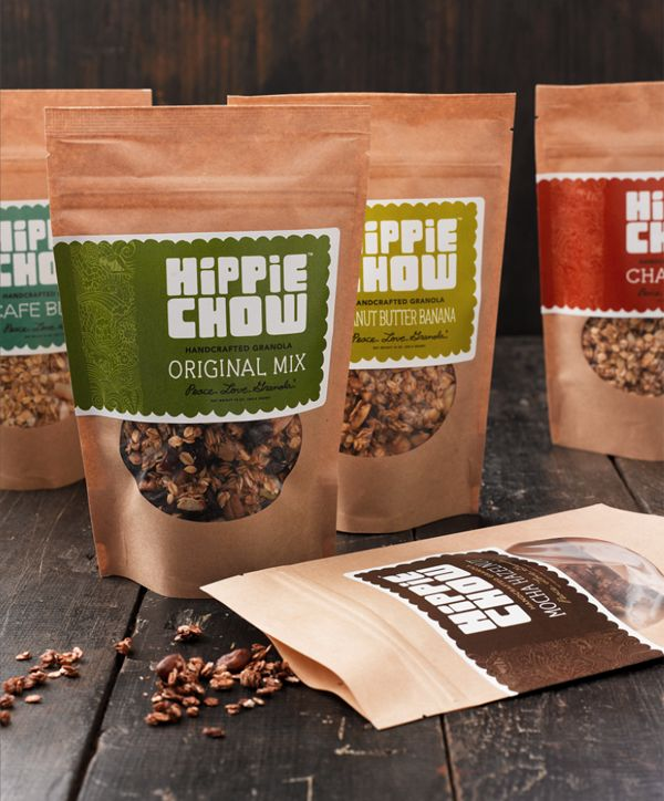 Hippie Chow Granola Packaging and Branding by Joe Wilper, via Behance