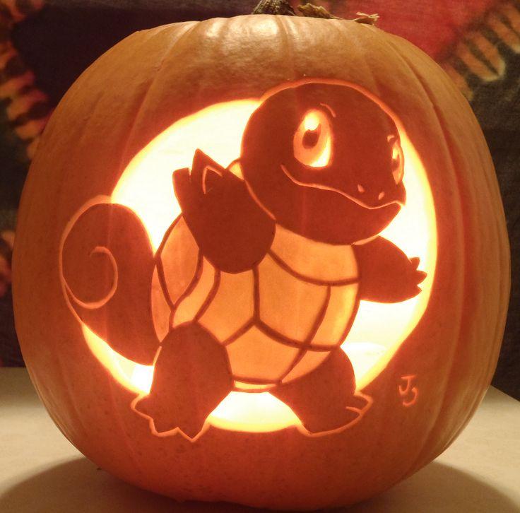 Squirtle Pumpkin Light by =joh-wee on deviantART