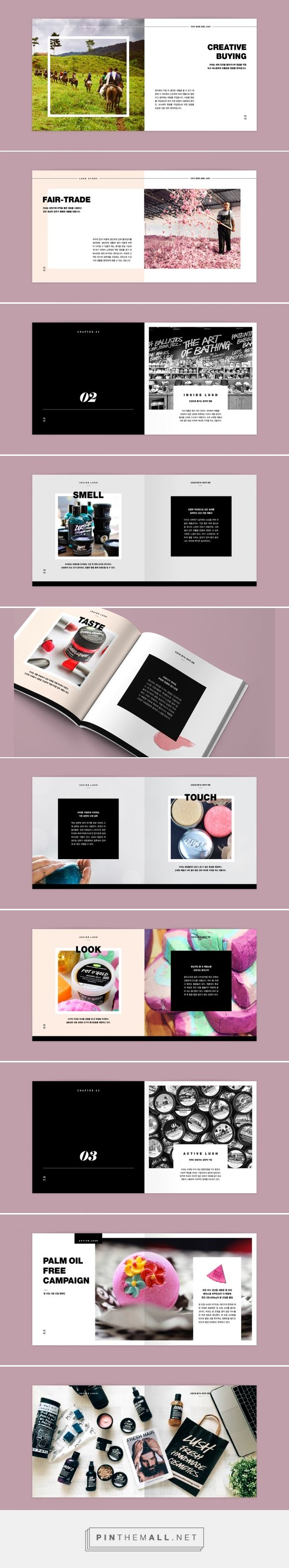 LUSH brochure l School project - Editorial Design on Behance... - a grouped images picture - Pin Them All                                                                                                                                                                                 More