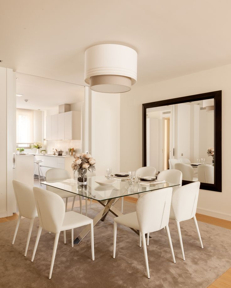 Sala da pranzo - contemporaneo moderno - bianco