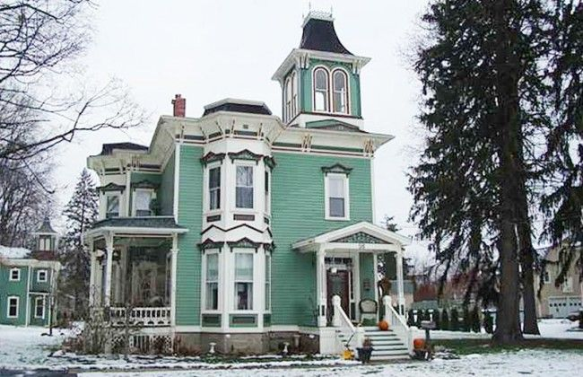 Dundee Village Victorian. Circa 1880. Dundee, New York | Painted Ladies Second Empire