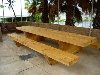 4 mtr macrocarpa table