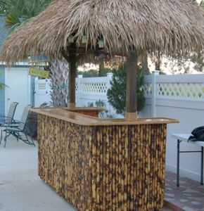Build your own tiki bar tiki bar pinterest for How to build a beach bar