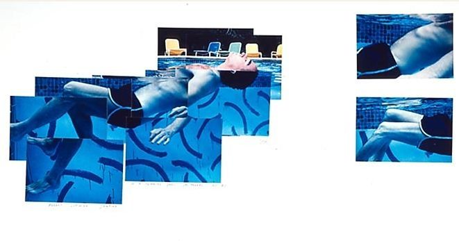 Robert Littman Floating in My Pool Oct. 1982 (1982) Photographic collage