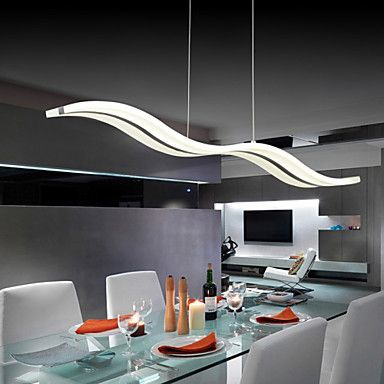 40 Pendant Light , Modern/Contemporary Chrome Feature For LED Acrylic Living  Room Bedroom Dining Part 75