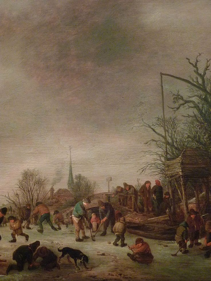 "OSTADE (van) Isaac - Paysage d'Hiver (Custodia) - Détail 5  -  TAGS / art painter peintre details detail détails detalles ""peinture 17e"" ""17th-century paintings"" ""peinture hollandaise"" ""Dutch paintings"" ""Dutch painters"" ""peintres hollandais"" Paris France church église Joueurs play game fun plaisir patinage patineurs skating skaters hockey ice man men snow winter hiver neige luge sled sledge lake ""lac gelé"" tree trees nature arbres chevaux animal animaux animals dog pet chien auberge hostel…"