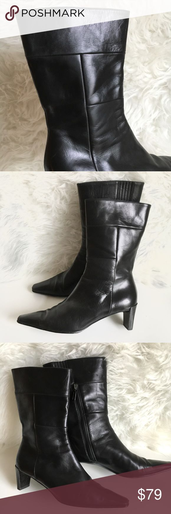 Bruno Magli Mid Calf Zip Boots  8.5 made in italy Bruno Magli Mid Calf Leather Side Zip Boots  size 8.5 made in Italy. Excellent preowned condition minimal signs of wear as shown. Excellent quality leather. Very comfortable and stylish boot. True to size. Bruno Magli Shoes Ankle Boots & Booties