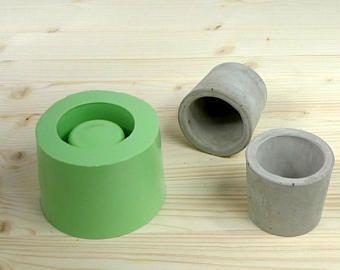 Molde concreto planter, redondo molde concreto de la taza, molde concreto del silicón, molde pequeño plantador, molde de olla concreto