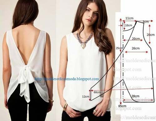 Patrones para hacer blusas bonitas01                                                                                                                                                                                 Más