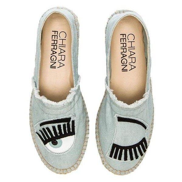 Chiara Ferragni Wink Espadrille Shoes found on Polyvore
