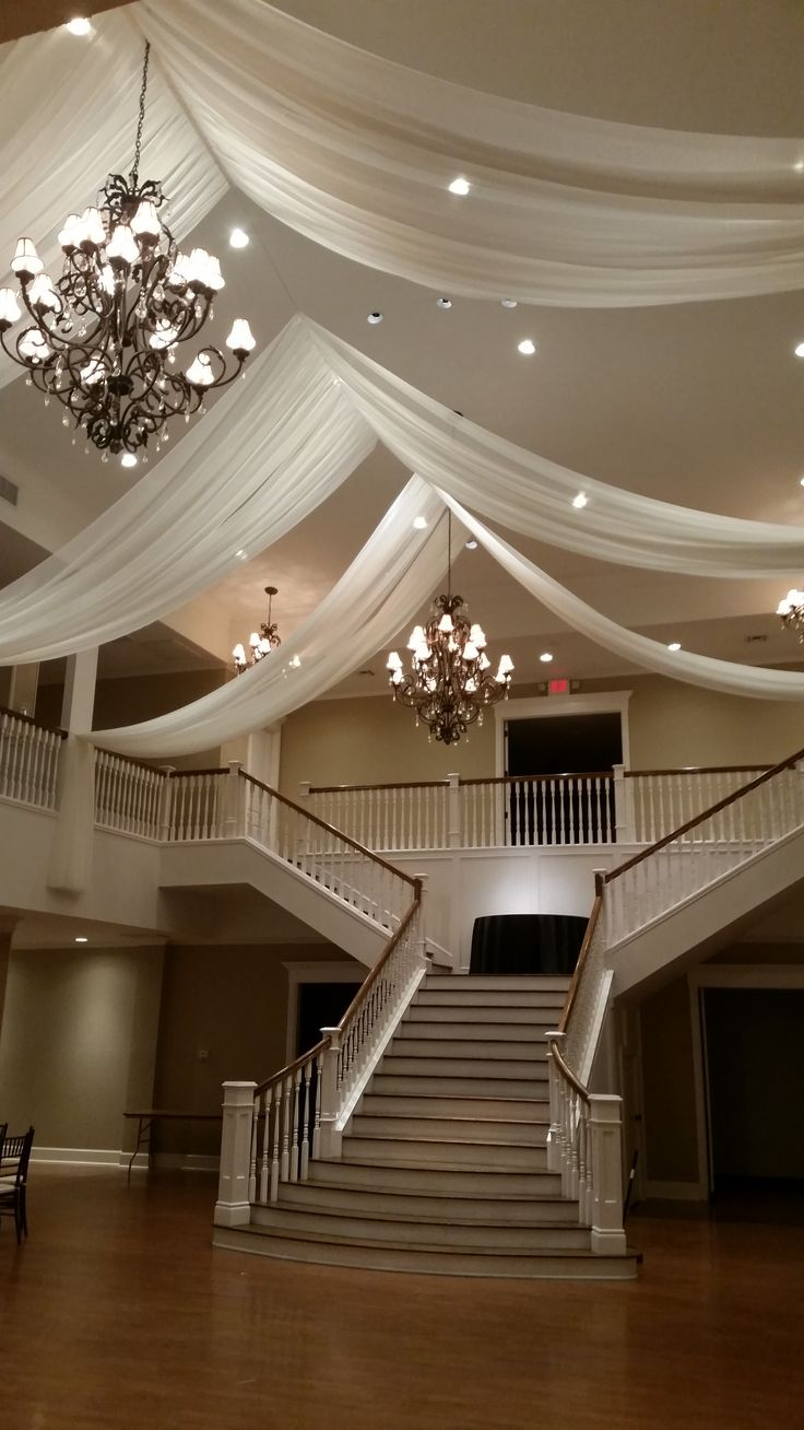 Sheer Draping at Kendall Plantation - DPC Event Services #WeddingDecor #WeddingDraping #EventRentals
