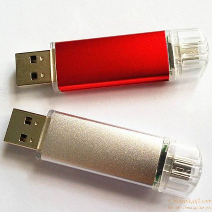 OTG USB flash driver for PC and smartphones Android phones gift