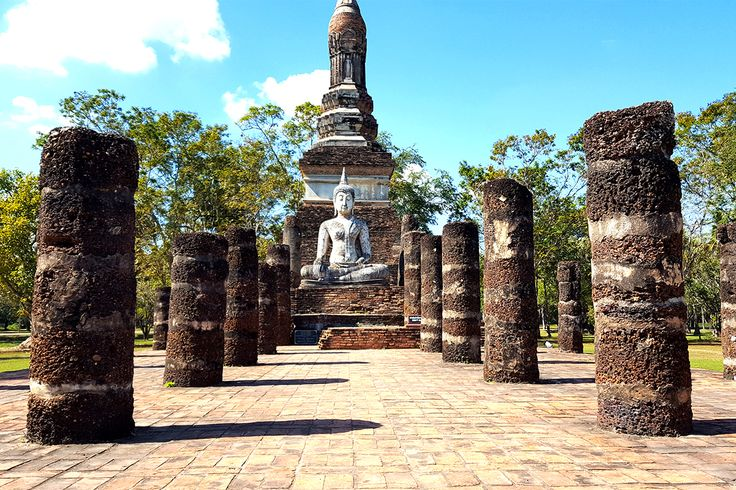 Sukhothai Historical Park used to be the home of the nation's ancient capital. It's extraordinary arts and culture of the Sukhothai period were list on the Cultural World Heritage Site in 1991. #Odyssey #Tour #Sukhothai #Thailand #Heritage #CulturalRelics #Ancient #Park