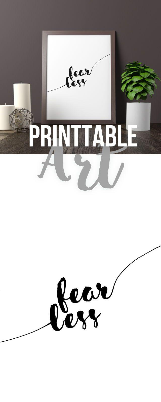 Printable Art Fearless