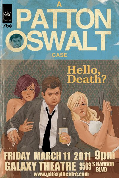 I'd like to be inside Patton's brain for a day. That would be hella fun. Patton Oswalt design by Phil Noto