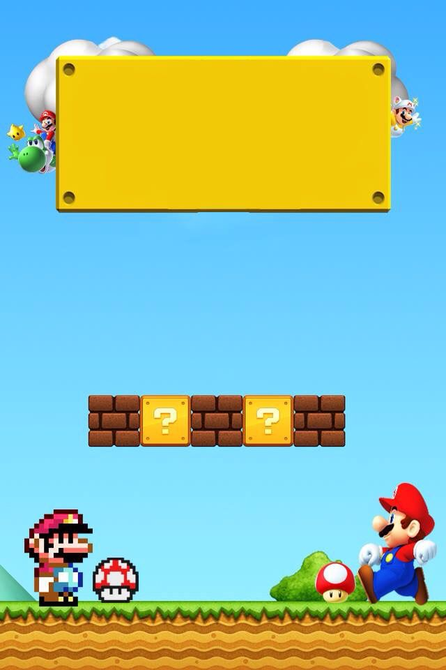 Super Mario  Lock-Screen Wallpaper | iPhone 4s