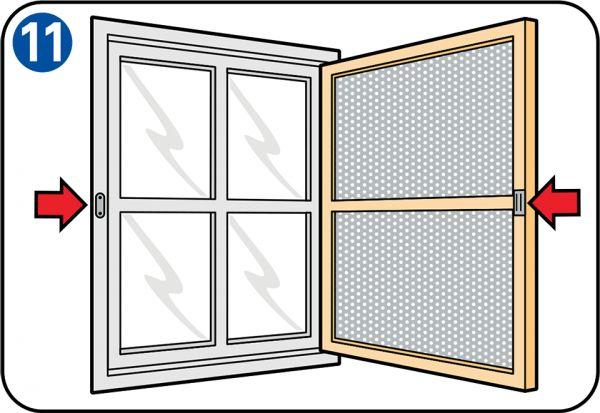 anleitung wie sie selbst eine fliegengittert r oder ein fliegengitterfenster bauen mit unserer. Black Bedroom Furniture Sets. Home Design Ideas