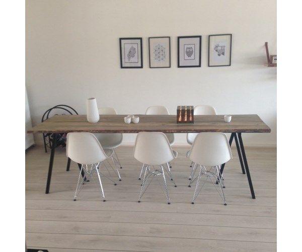 Spisebord, Plankebord, Hay ben/ Rustik bord, b: 70 l: 250