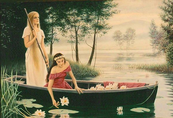 The Song Of Whisper Lake, watercolor by Barry DeBaun.