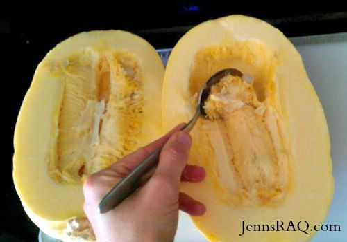 How to Cook Spaghetti Squash in the Microwave - Food that everyone can love!  Great for Paleo, Clean Eating, Vegetarian, Vegan, Weight Watchers, and more.