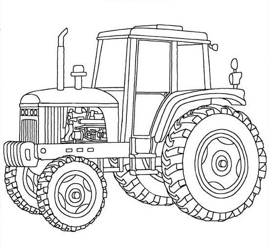 Tractor coloring sheet