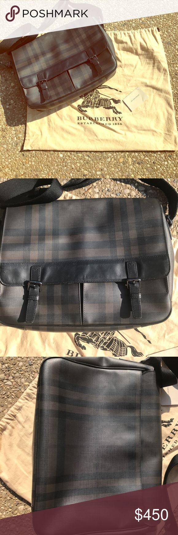 ✳️ Authentic Burberry Messenger bag ✳️ Great condition. Dark classic Burberry print on whole bag in crossgrain leather and accents of smooth leather. Long adjustable strap and gun metal hardware. Burberry Bags Messenger Bags
