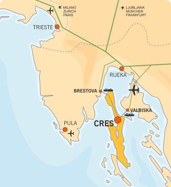 Cresanka - Orario del traghetti